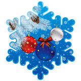 Christmas snowflake frame Stock Images