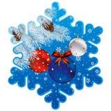 Christmas snowflake frame Stock Images