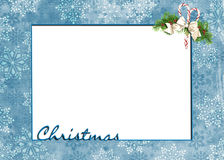 Christmas snowflake frame Stock Photo