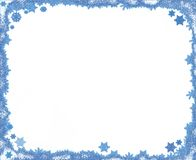 Christmas snowflake frame with copy space Royalty Free Stock Image