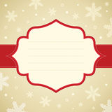 Christmas snowflake frame. Royalty Free Stock Photo