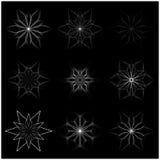 Christmas snowflake, frozen flake silhouette icon, symbol, design Stock Photo