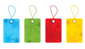 Christmas snowflake gift tags Stock Photography