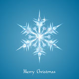 Christmas snowflake greeting Stock Images