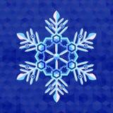 Christmas snowflake greeting card template Royalty Free Stock Image