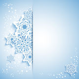 Christmas Snowflake Greeting Card royalty free stock image