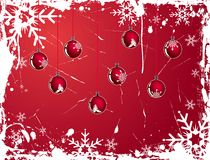 Christmas snowflake grunge background, vector Stock Photo