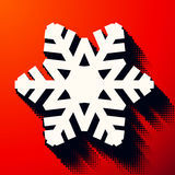 Christmas snowflake with halftone shadow Royalty Free Stock Photos
