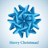 Christmas snowflake illustration. Vector background for your artwork Stock Photo