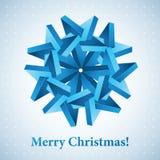 Christmas snowflake illustration. Stock Photo