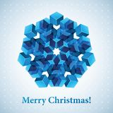 Christmas snowflake illustration. Stock Photos