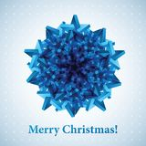 Christmas snowflake illustration. Vector background for your artwork Stock Photography