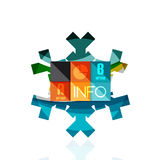 Christmas snowflake with infographic stickers Stock Image