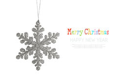 Christmas snowflake isolated Royalty Free Stock Image