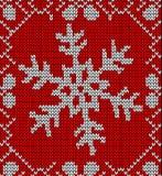 Christmas snowflake knitting pattern Stock Images