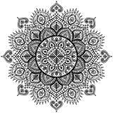 Christmas snowflake mandala ornament Royalty Free Stock Images