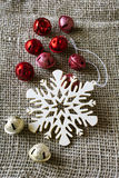 Christmas snowflake ornament Stock Image