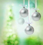 Christmas snowflake ornaments Stock Photos