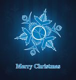 Christmas snowflake out of office supplies Stock Photography