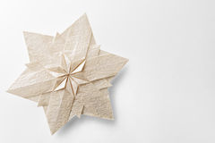 Christmas snowflake paper. 3d ornament Stock Images
