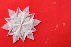 Christmas snowflake paper 3d Stock Image