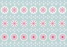 Christmas Snowflake Pattern Stock Photography