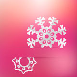 Christmas snowflake on pink purple . + EPS8. White paper christmas snowflake on a pink purple background. + EPS8  file Vector Illustration