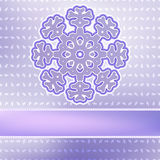 Christmas snowflake on red purple . + EPS8. White paper christmas snowflake on a red purple background. + EPS8 file Royalty Free Illustration
