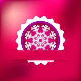 Christmas snowflake on red purple . + EPS8. White paper christmas snowflake on a red purple background. + EPS8 file Vector Illustration