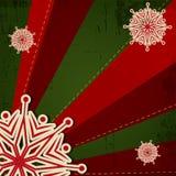 Christmas Snowflake on Retro Background royalty free stock photos