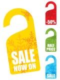 Christmas snowflake sales tags Stock Photography