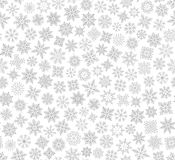 Christmas snowflake seamless pattern Stock Photos