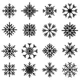 Christmas snowflake set. Christmas snowflake illustration set royalty free illustration
