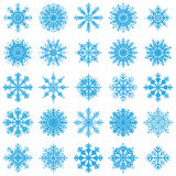 Christmas snowflake set. Christmas snowflake vector illustration set vector illustration