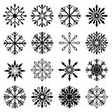 Christmas snowflake set Stock Image