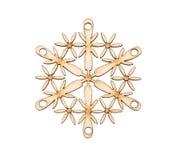 Christmas snowflake shape decoration Royalty Free Stock Images
