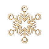 Christmas snowflake shape decoration made wood tree Royalty Free Stock Photography