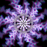 Christmas snowflake sign with aberrations Stock Photography