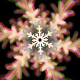 Christmas snowflake sign with aberrations Royalty Free Stock Photos