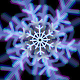 Christmas snowflake sign with aberrations Royalty Free Stock Photo