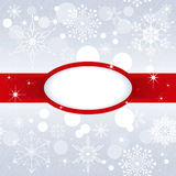 Christmas snowflake on silver color background Royalty Free Stock Photo