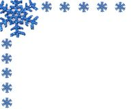 Christmas Snowflake with small snowflakes Royalty Free Stock Photos