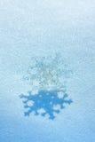 Christmas snowflake on snow stock photography