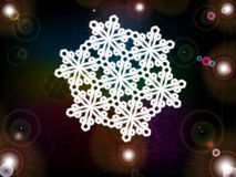 Christmas snowflake Stock Images