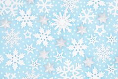 Christmas Snowflake and Star Background Pattern