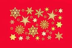 Christmas Snowflake and Star Composition