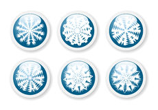 Christmas snowflake stickers Royalty Free Stock Photography