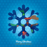 Christmas Snowflake symbol background Stock Photo