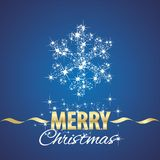 Christmas snowflake symbol stardust blue background. Vector Royalty Free Stock Image