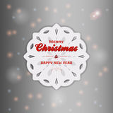 Christmas snowflake with text Royalty Free Stock Image